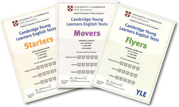 Cambridge English: Exámenes de Young Learners